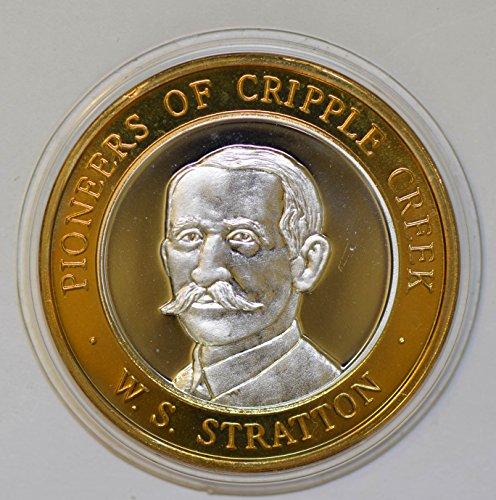 IE BU0343 US casino chip token pioneers of cripple creek w.s. stratton silver DE PO-01