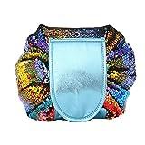 Makeup Bag, Reversible Sequin Makeup Bag for Women Large Capacity Women Makeup Toiletry Bag Storage Pack Bag (colorful)