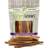 Nature Gnaws Junior Bully Sticks - 100% All-Natural Grass-Fed Free-Range Premium Beef Dog Chews