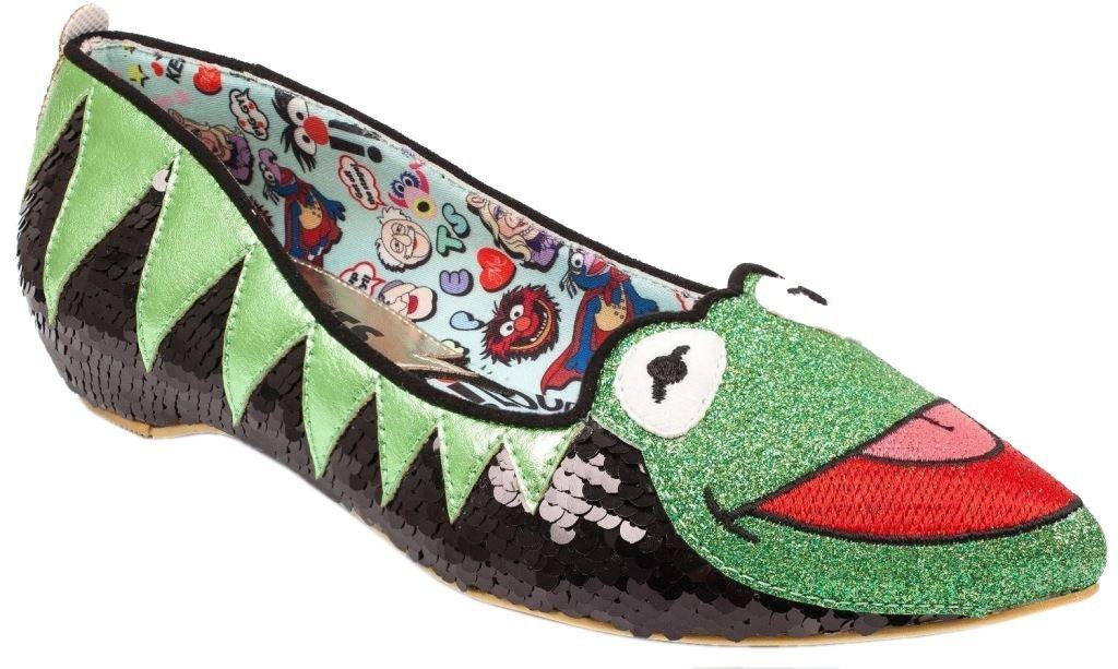 Con precio barato para obtener la mejor marca. Talla 8 Irregular Choice X Disney The Muppets Kermit Kermit Kermit The Frog verde negro Flats-38  oferta de tienda