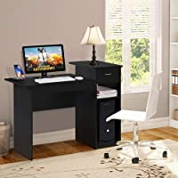 Yaheetech Computer Desk with Drawer and Shelf (Black)