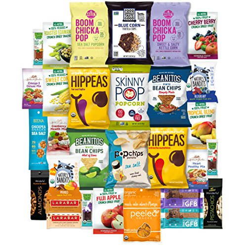 - Vegan, Healthy Variety Set of Snacks, Premium Nutritious Food Treats Sampler Care Package (30 Count)