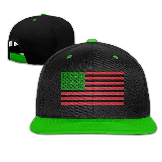 ... JLPOU-6 Mens Womens Hip-hop Hats African American Flag - Red Black get  ... c1a0e7bd474