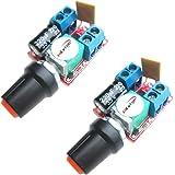 HiLetgo® 5Aミニ DC モータ PWM 速度コント ローラー 3V-35V スピード コントロール スイッチ LED 調光器 [並行輸入品]