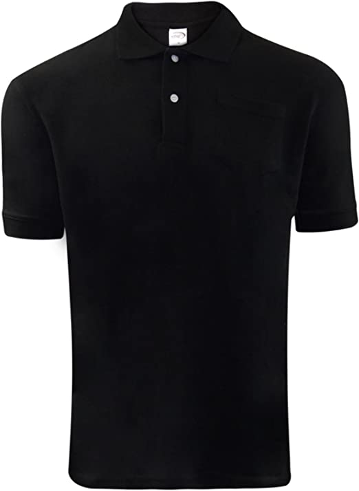 NEW MENS TIPPING COLLARED POLO SHIRT LONG SLEEVE POCKET PIQUE CASUAL SUMMER TOP
