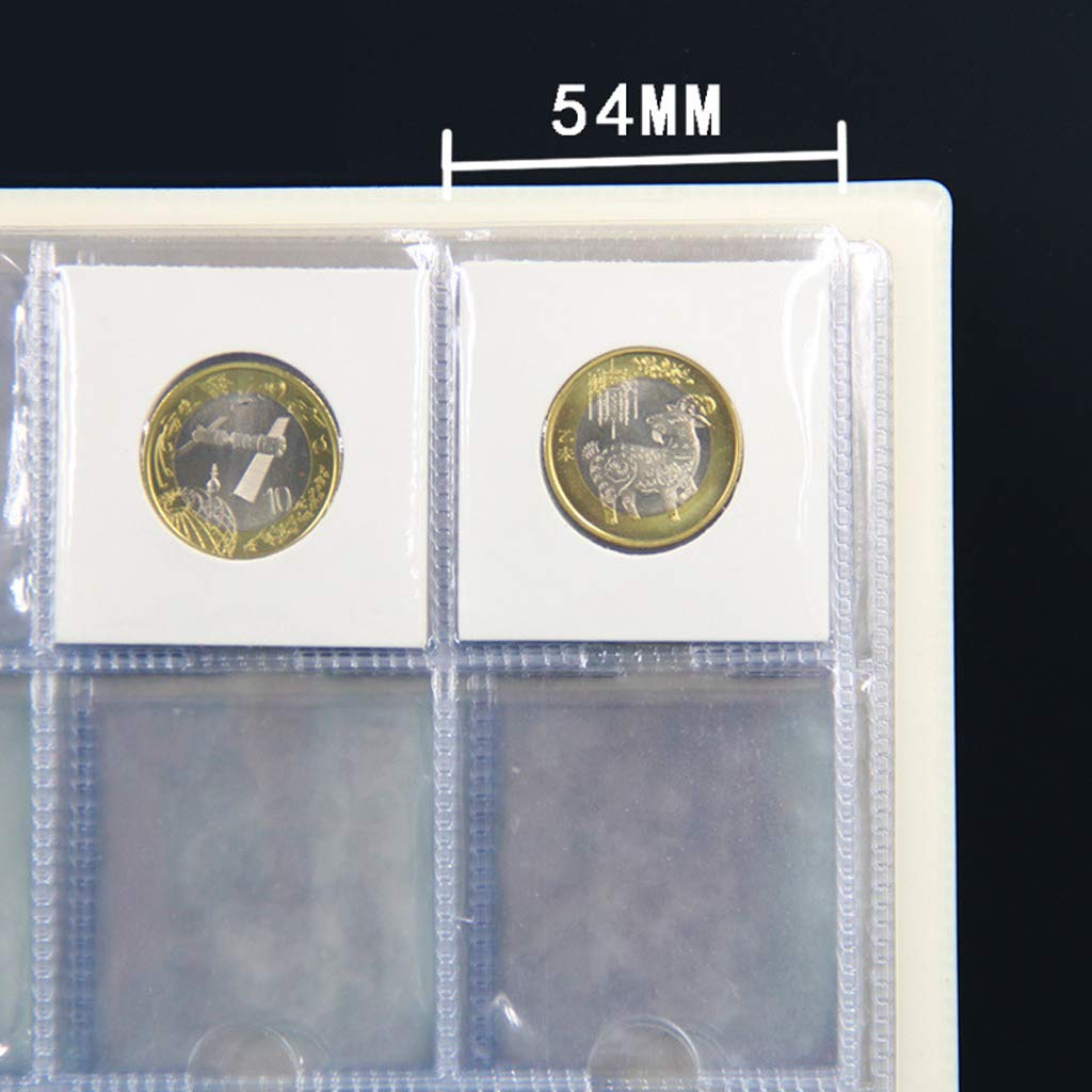 200 - Pocket 10 Pages Fenteer Clear Plastic Coin Pocket Page Protectors Coin Collections Holders Storage Sheets