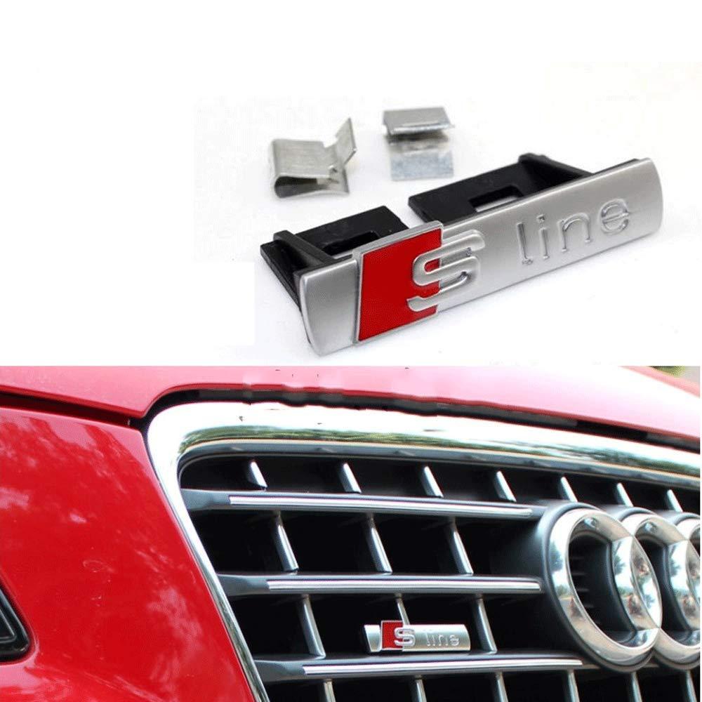 BOLLAER S Line - Emblema para rejilla delantera de coche para A1/A3/A4L/A5/Q5, decoración de coche S Line