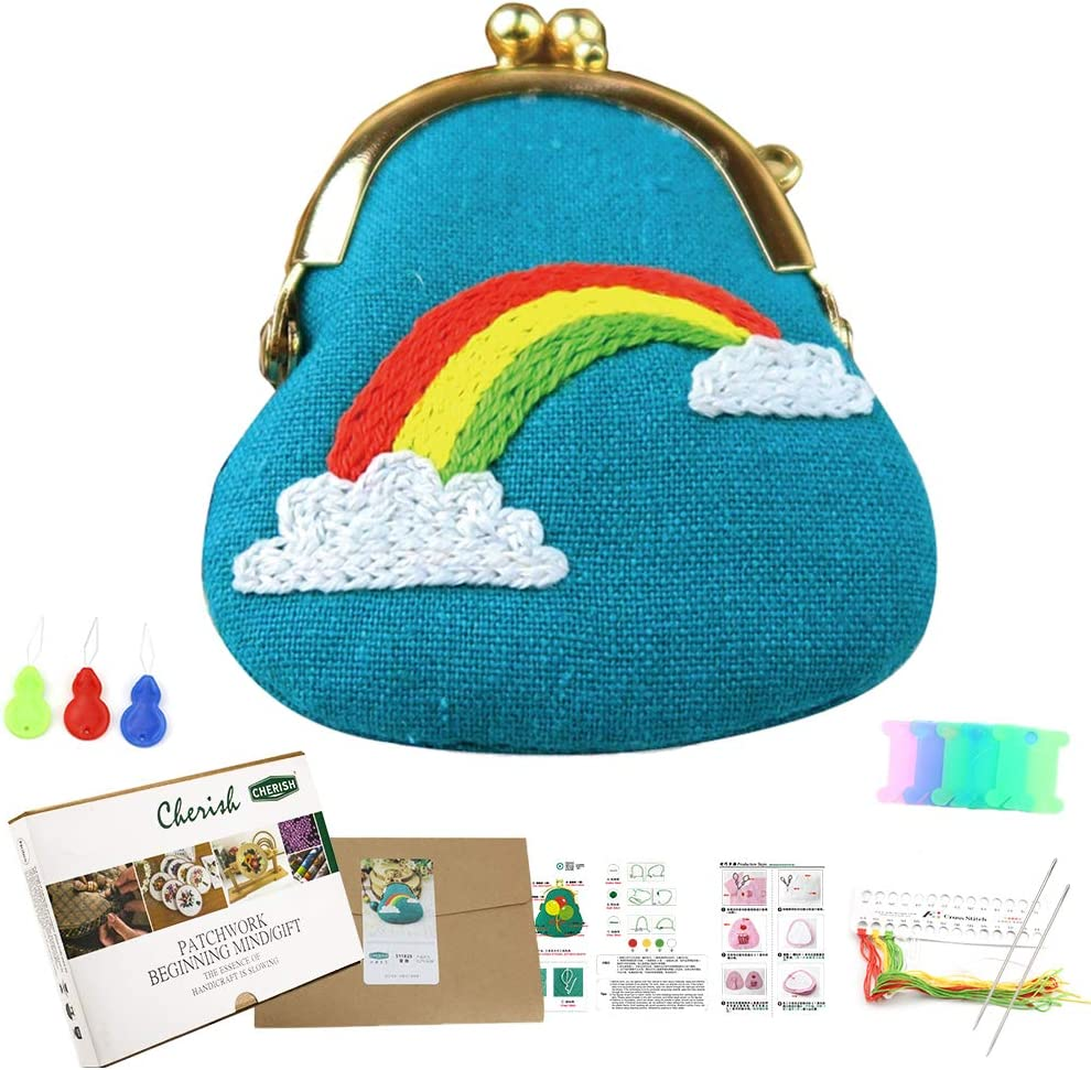 Amazon Com All Range Of Christmas Gift Embroidery Coin Purse Making Kits Handmade Cute Cross Stitch Bag Pendant Hot In Tik Tok Childhood