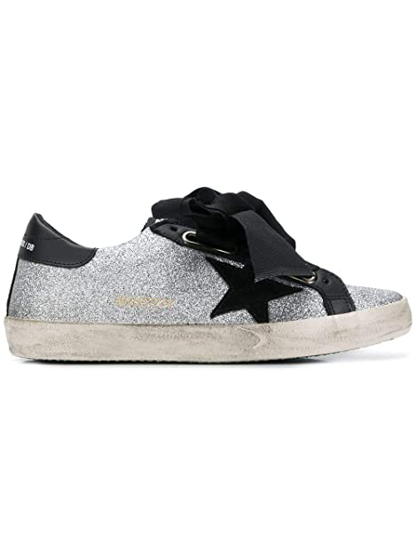 Golden Goose Mujer G33ws590l64 Plata/Negro Cuero Zapatillas: Amazon.es: Zapatos y complementos