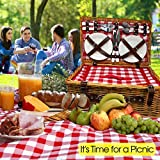 Nature Gear Upgraded 4 Person XL Picnic Basket