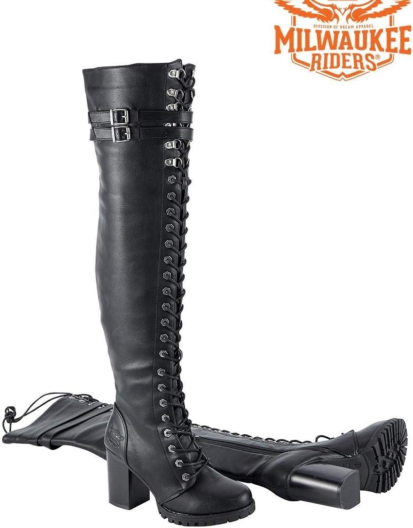 Harley Side Zipper Biker Boot Blk PVC