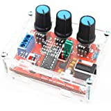 Anmbest XR2206 1Hz-1MHz Adjustable Frequency Amplitude Sine/Triangle/Square Output High Stability and Accuracy Monolithic Function Signal Generator DIY Kit with Case
