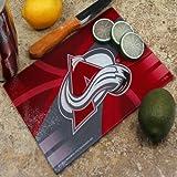 """Memory Company NHL Colorado Avalanche 8"""" X 11.75"""" Carbon Fiber Cutting Board, One Size, Multicolor"""