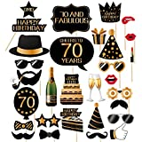 70th Birthday Photo Booth Props-70th birthday Photobooth Props For Men And Women-32 Pieces