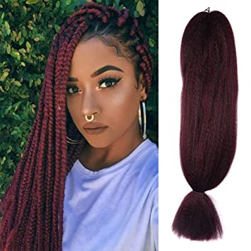 Fashion Lady Jumbo Braiding Hair Extensions Red Wine Kanekalon African  Collection Braids