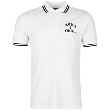 Franklin and Marshall Hombre Basic Polo Camisa Camiseta Manga ...