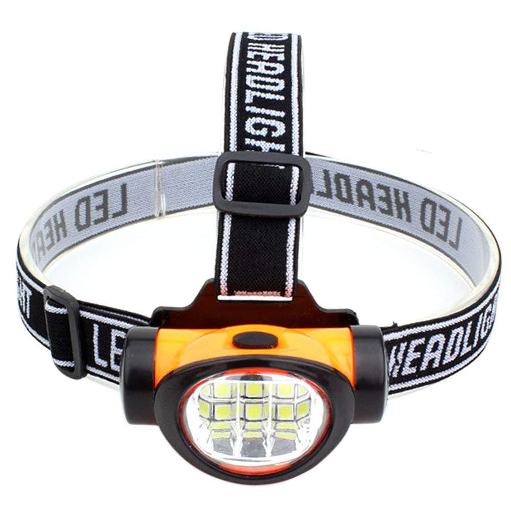 Linterna LED Recargable 3 Modos Mini 6 LED port/átil Linterna de Cabeza Happyhouse009 Faro Delantero con Diadema