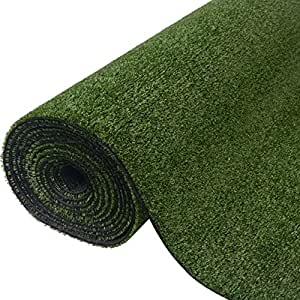 "SKB Family Artificial Grass 3.3'x65.6' /0.3""-0.4"" Green Garden Wedding Decor Outdoor and Indoor"
