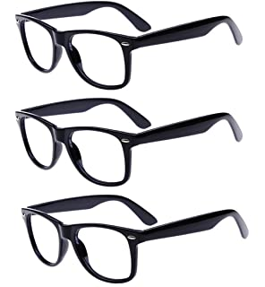 edb312a9d6e8 Amazon.com  Goson Clear Lens Eye Glasses Non Prescription Glasses ...