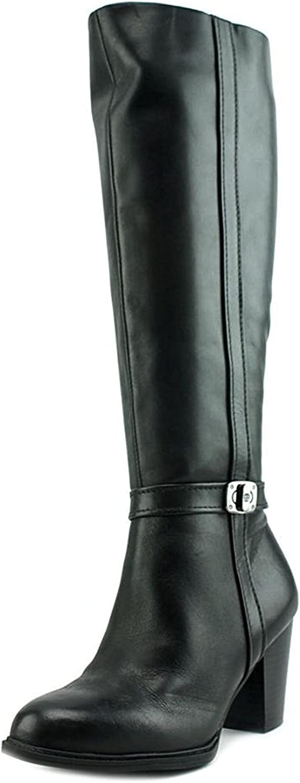 Giani Bernini Womens Raiven 2 Leather Closed Toe Knee High Black Size 9.5
