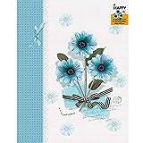 4 5 6 7 8 inch children self-adhesive film album / baby hand-paste dly family album album (26.2 17.5cm) ( Color : Blue-2 )