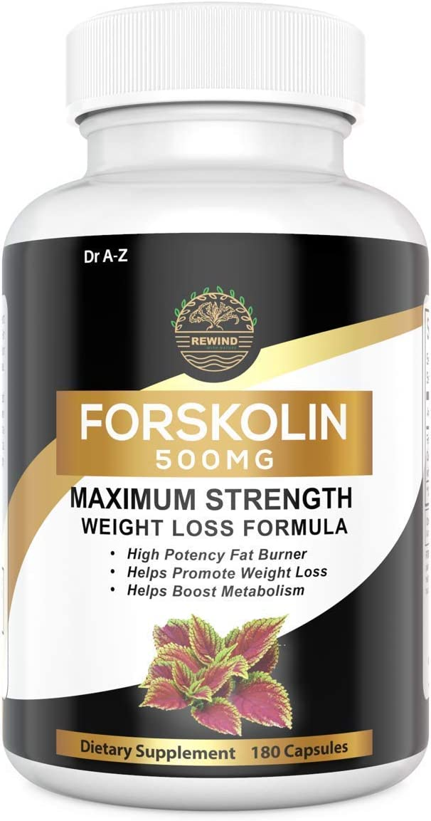 Nature's Pure Standardized Forskolin Extract 100% Pure Forskolin, Non-GMO & Gluten Free - Promotes Weight Loss, Advanced Weight Loss Supplement for Women & Men 180 Days Supply