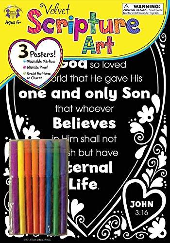 Download Velvet Scripture Art John 3:16 (Color His Words Velvet Art) pdf epub
