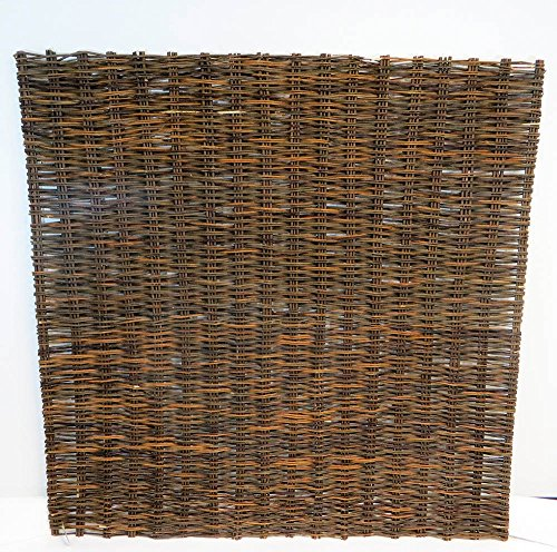 Willow Woven Hurdle Panel, 6'W x 6'H/pcs, Brown Color (6) (Willow Curves Six)