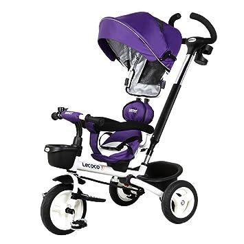 Triciclo para niños, 1-3 años de edad, doble bicicleta, bicicleta para bebé Carrito de bebé carro de bebé (Color : Purple) : Amazon.es: Deportes y aire ...