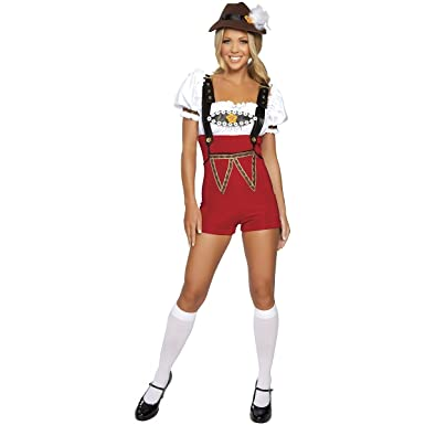 ae775036919 Amazon.com  Beer Stein Babe Adult Costume Red - Small Medium  Clothing