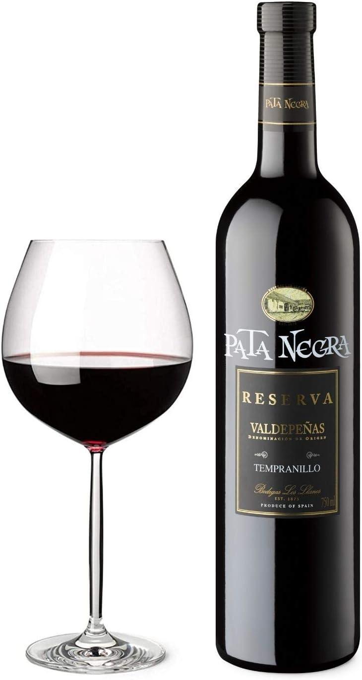 Pata Negra Reserva Vino Tinto DO Valdepeñas - Caja de 6 Botellas x 750 ml
