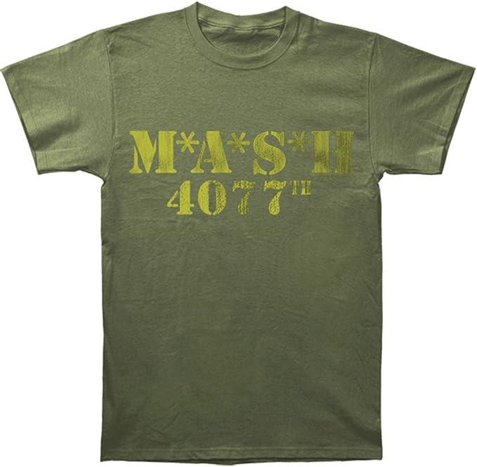 MASH Logo 4077th verde militar camiseta Tee: Amazon.es: Ropa y ...
