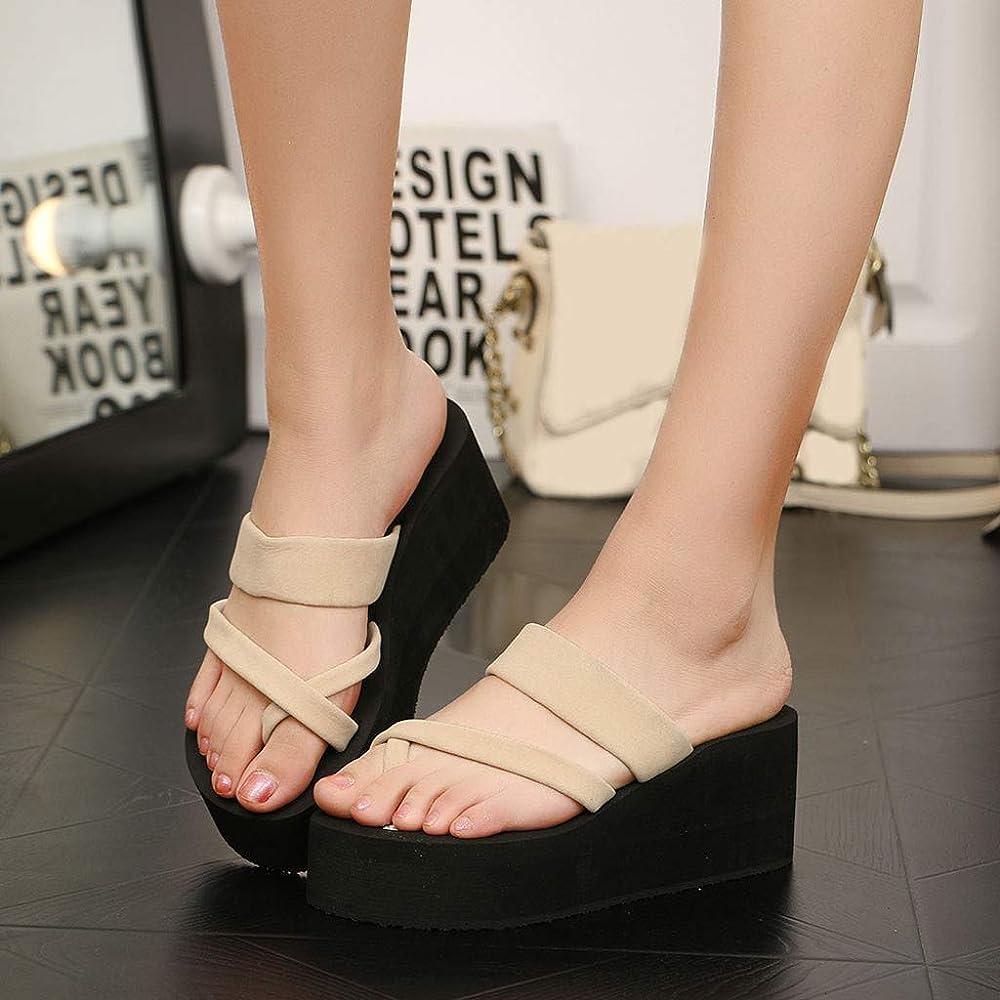 Summer Women Ladies Thong Flip Flops Sandals Wedge Platform Beach Slippers Shoes