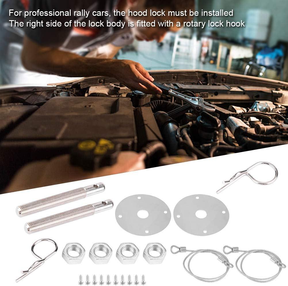 1 Pair Car Universal Engine Hood Cover Lock Key Pin Kit Safety Latch Pin Kit Suuonee Car Hood Lock