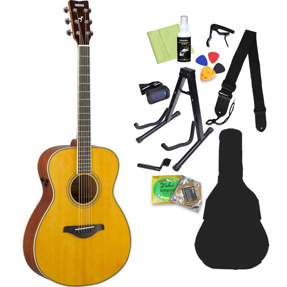 YAMAHA Trans Acoustic FS-TA Vintage Tint トランスアコースティックギター初心者12点セット (エレアコ) ヤマハ   B07CNQ1XHD