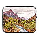Computer Bag Laptop Case Sleeve Bag Mountains Lake Art Painting Filter Waterproof 13-15 Inch For IPad Air Macbook Pro Surface Book Notebook Ultrabook