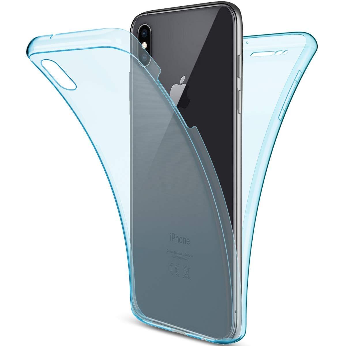 Uposao Silikonhülle iPhone XR Handytasche 360° Full Body Cover Vorne und Hinten Silikon Tasche Komplettschutz Rundumschutz Beidseitiger Hülle Durchsichtig Handyhülle, Kristall PYHT009384