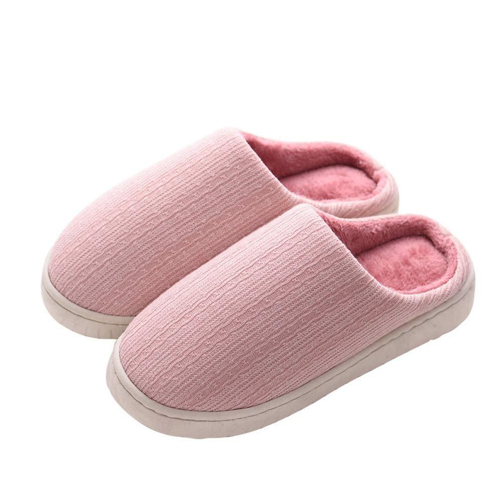 SLIPPERSXSJ Pantoufles de Coton Pantoufles d\'hiver en Peluche Tissu remorque de Coton vadrouille de Coton Anti-dérapant, 38-39 (24-24.5cm)