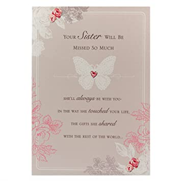 Amazon loss of sister sympathy greetings cards home kitchen loss of sister sympathy greetings cards m4hsunfo