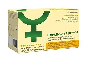 Fertilovit PCOS | 60 Kapseln + 30 Sticks für 30 Tage | zum Diätmanagement bei polyzystischem Ovarsyndrom in der Zeit des Kind