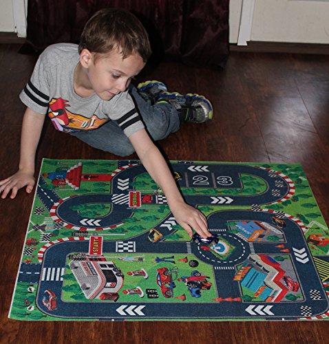 Road Racing Track Toddler City Play Mat Kids Floor