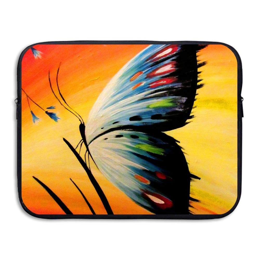 Ministoeb Butterfly Colorful Pattern Painting Love Laptop Storage Bag - Portable Waterproof Laptop Case Briefcase Sleeve Bags Cover