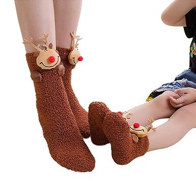 5747b9ffcc1 SUNBIBE🎅 Mommy Me Baby Toddler Girls Boys Christmas Socks Cute Xmas Socks  Infant Cartoon Thick Warm