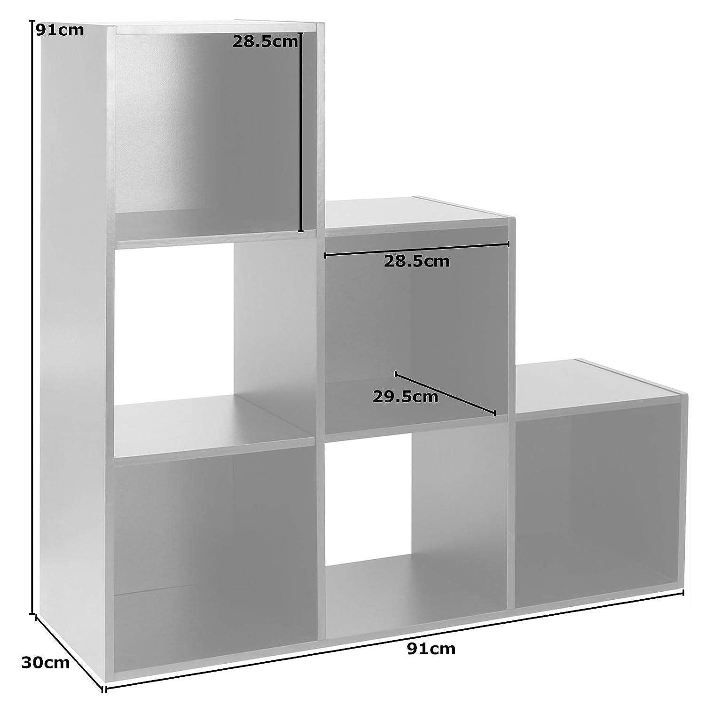 Hartleys Black 6 Cube Unit /& 3 Black Storage Drawers