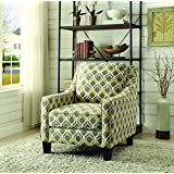 Coaster Traditional Grey/Yellow Upholstered Accent Chair
