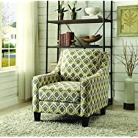 Coaster Home Furnishings 902428 Patterned Accent Chair, NULL, Grey/Yellow