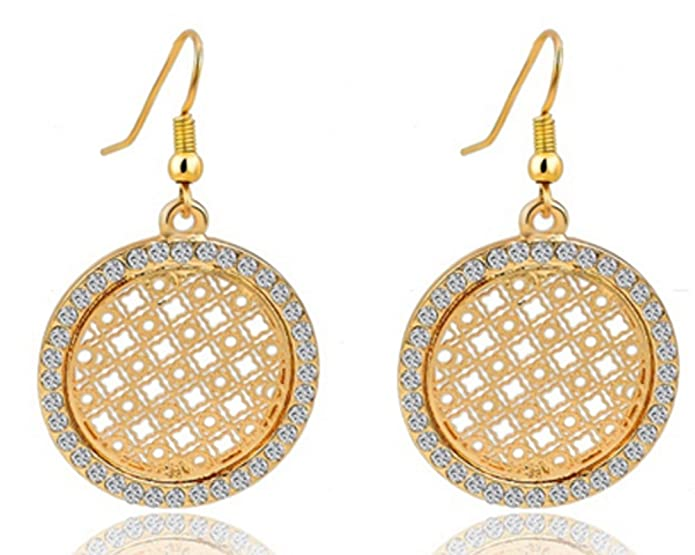 AmaranTeen 18K Gold Plated Crystal Trendy Crystal Jewelry Sets