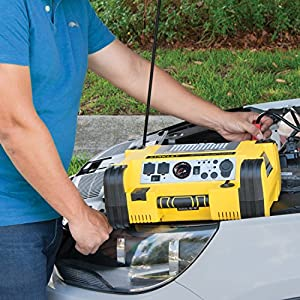 STANLEY PPRH5 Professional Power Station: 1000 Peak/500 Instant Amps, 500W Inverter, 120 PSI Air Compressor