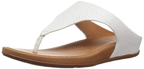 f1e0df8f8 FitFlop Women s Banda Toe-Thong Sandals-Snake-Effect Suede