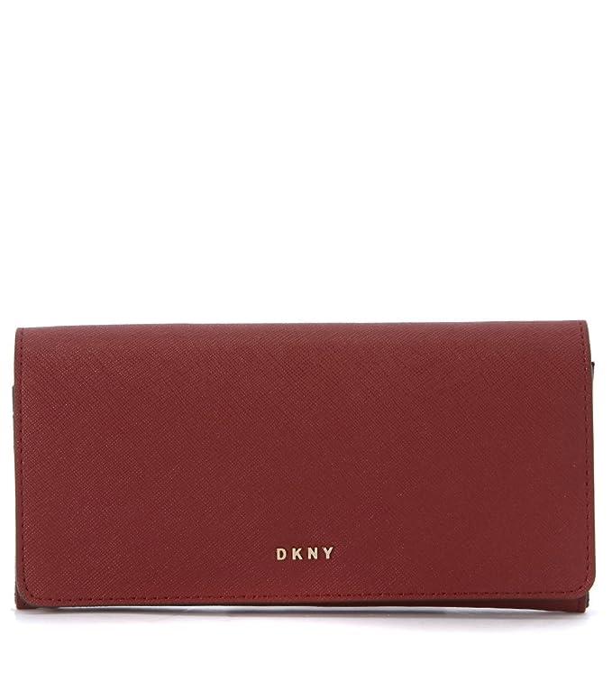 Cartera DKNY en piel rojo scarlet: Amazon.es: Ropa y accesorios